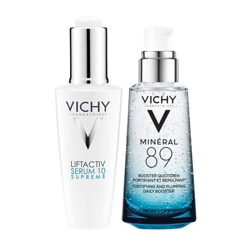 Vichy 薇姿 活性塑颜致臻焕活精华液(10号魔法液) 50ml+89号面部精华肌底液 火山能量瓶 50ml