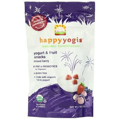 【美国Babyhaven】Happy Baby 禧贝有机水果溶豆 混合莓类味 含益生菌 1盎司/28g