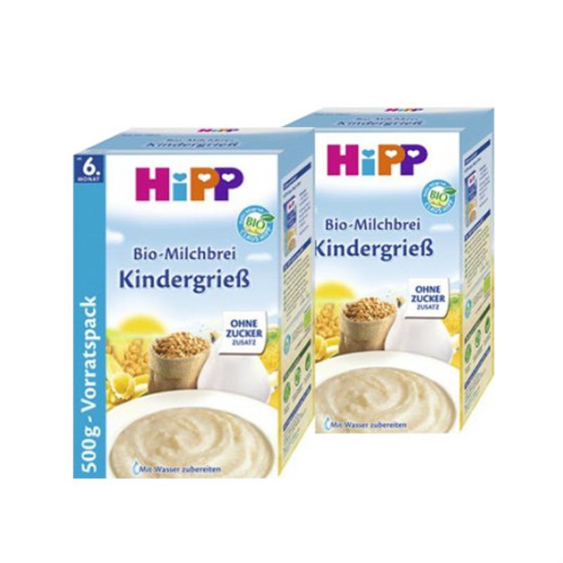 【2盒套装】HiPP 喜宝 宝宝高钙高铁有机小麦牛奶米粉/米糊 500g 6个月以上宝宝辅食 不含糖 2盒