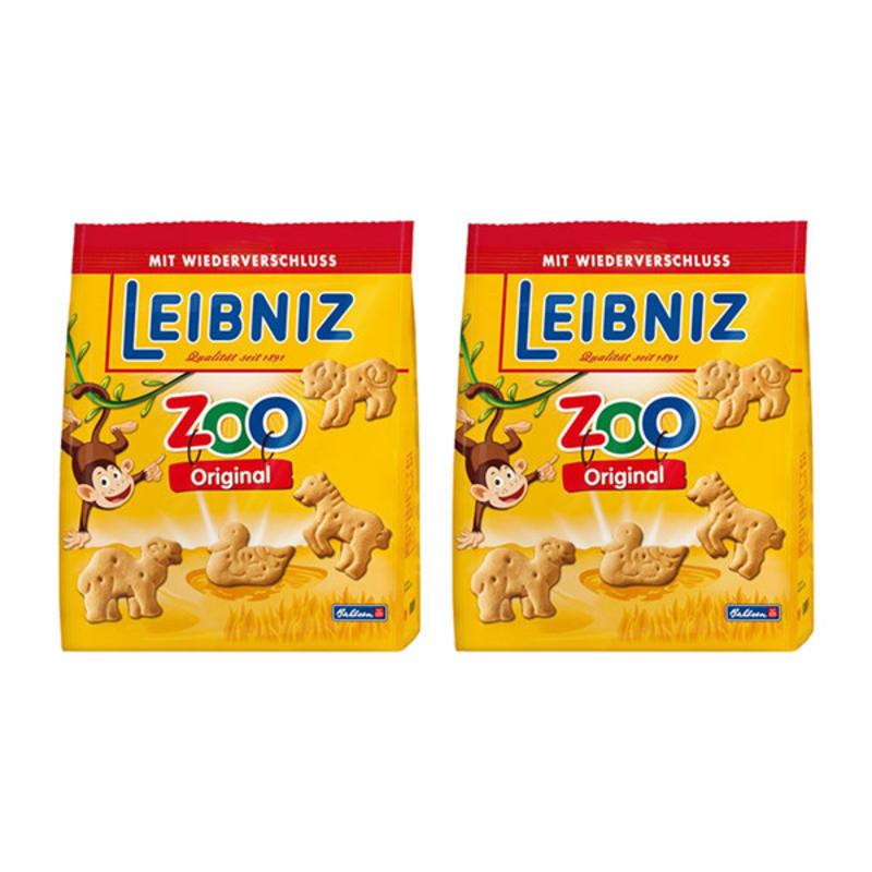 【德国BA】2x Leibniz 小麦黄油动物饼干/儿童饼干 125g