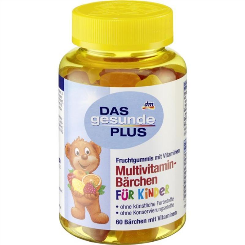 【德国BA】DAS gesunde PLUS 儿童小熊造型多种维生素维他命复合软糖 4岁+