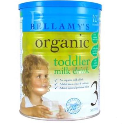 【澳洲PO药房】Bellamy&#039s 贝拉米 有机婴幼儿配方奶粉 (3段) 1岁+ 900g