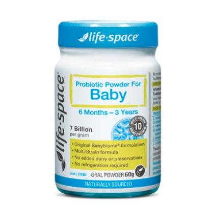 【澳洲PO药房】Life Space 婴儿益生菌粉 60g(6月-3岁) (调节肠胃/增强免疫力)