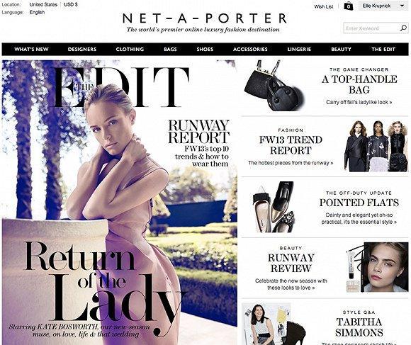 奢侈品电商Net-a-Porter推出专门设计师孵化平台The Vanguard