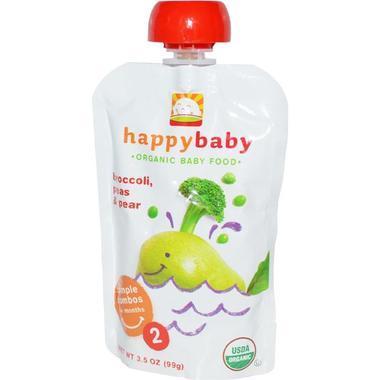 【美国Babyhaven】Happy Baby 禧贝果泥 花椰菜豌豆香梨味 2段 6个月+ 3.5盎司