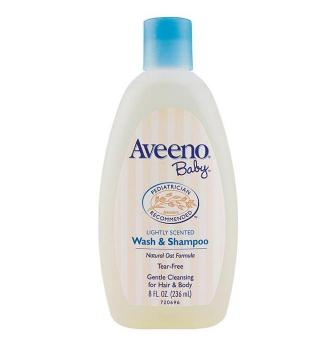 【澳洲CD药房】Aveeno 艾维诺燕麦婴儿专用身体洗发水两用 236ml
