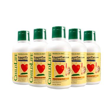 【6瓶包邮装】5瓶装 Childlife 童年时光 液体钙镁锌成长营养液 16fl.盎司