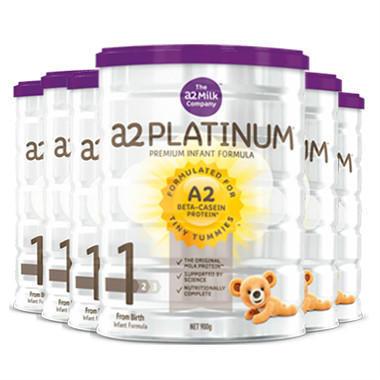 【6罐包邮装】A2 白金系列1段婴儿配方奶粉 6900g(0-6个月) 最新版