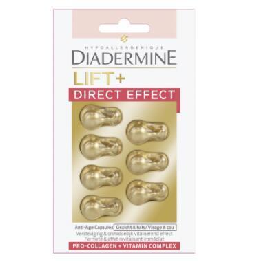 【荷兰DOD】Diadermine 黛妍蒂芙 Lift+ Direct 胶原蛋白速效紧致抗皱精华胶囊 7粒