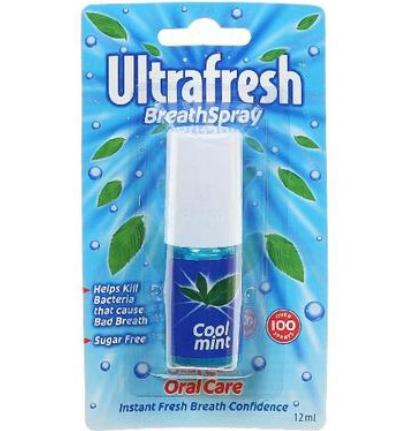 【澳洲PO药房】Ultrafresh 清凉薄荷味口腔清新剂 12ml(去口臭)
