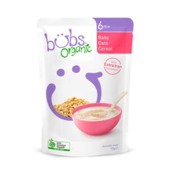 【澳洲CD药房】Bubs 贝儿 有机婴儿辅食 有机燕麦粥(6个月+)125g