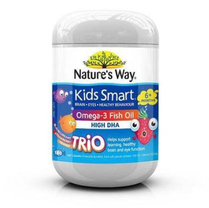 【澳洲PO药房】Nature&#039s Way 儿童DHA鱼油胶囊 180粒