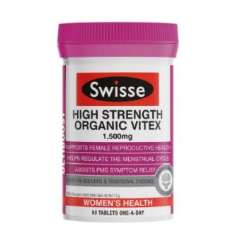 【澳洲CD药房】SWISSE 有机圣洁莓片 调经/调节内分泌/平衡女性荷尔蒙 60片