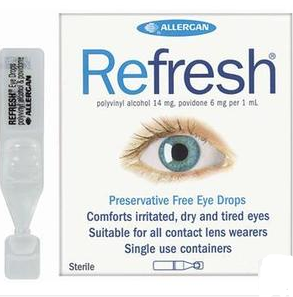 【新西兰PD】Refresh 抗疲劳无防腐剂滴眼液 0.4ml30