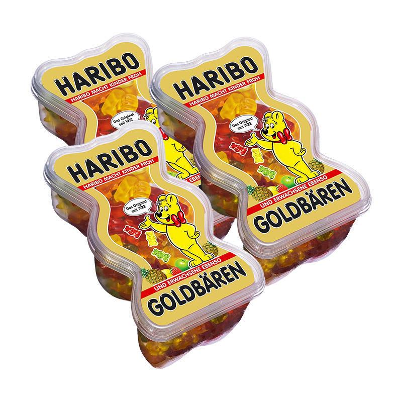 3盒特惠装 Haribo 哈瑞宝 金熊盒装水果软糖 3X450g