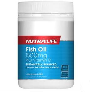 【新西兰PD】Nutralife 纽乐 天然深海鱼油+维生素D胶囊 180粒