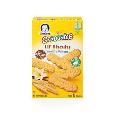 【美国Babyhaven】Gerber 嘉宝香草手指磨牙饼干 曲奇磨牙谷物棒 4.44盎司/126克