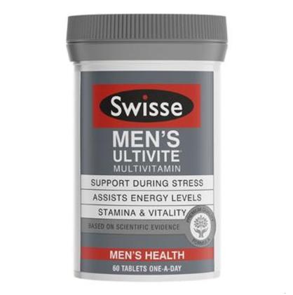 【澳洲PO药房】Swisse 男士复合维生素片 60片