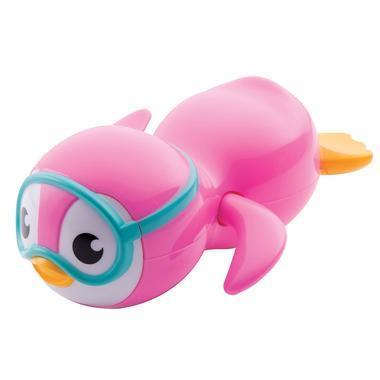 【美国Babyhaven】Munchkin 麦肯奇 游泳企鹅发条浴室洗澡戏水玩具 粉色