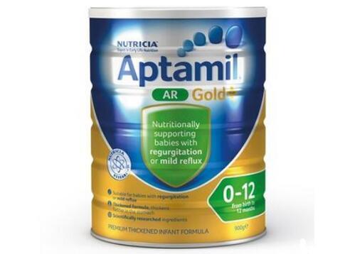 Aptamil 澳洲爱他美 金装婴幼儿配方奶粉 防吐型 适合吐奶打嗝宝宝(1-2段)0-12月 900g
