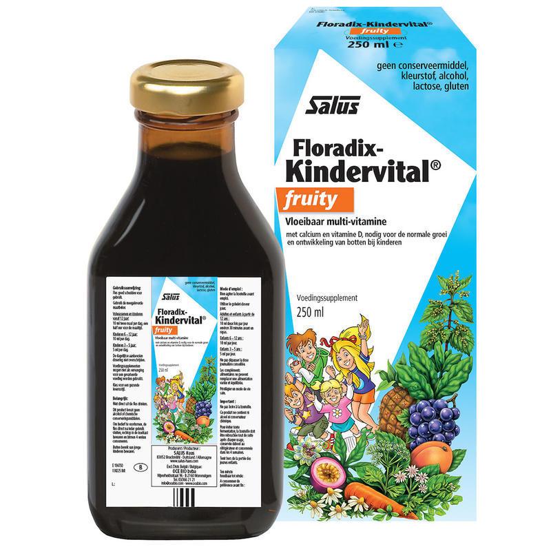 【荷兰DOD】Salus 莎露斯 儿童多种果蔬维生素钙营养液 水果味 3岁以上 250ml
