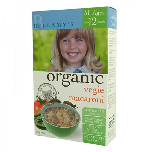 【限时特价】Bellamy&#039s 贝拉米 婴幼儿辅食有机蔬菜通心粉 175g