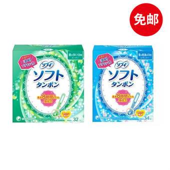 【多庆屋】尤妮佳unicharm导管式卫生棉条日用型34支+量多型32支