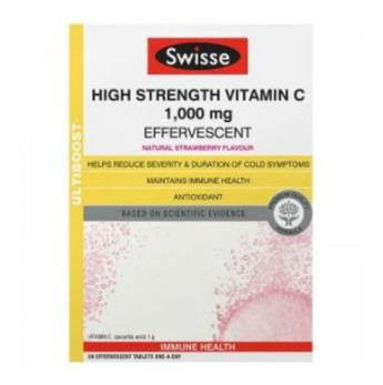 【澳洲CD药房】Swisse Ultiboost 高强度维生素C泡腾片 60片