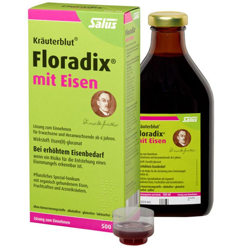 【德国BA】Salus Floradix mit Eisen 铁元 补铁补气补血抗疲劳 500ml