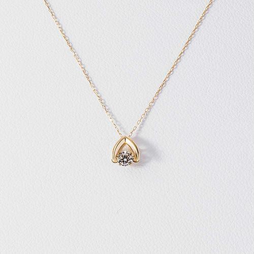 【首饰专场部分8折】松屋原创 Dancing Stone 钻石白金项链 K18 0.1克拉