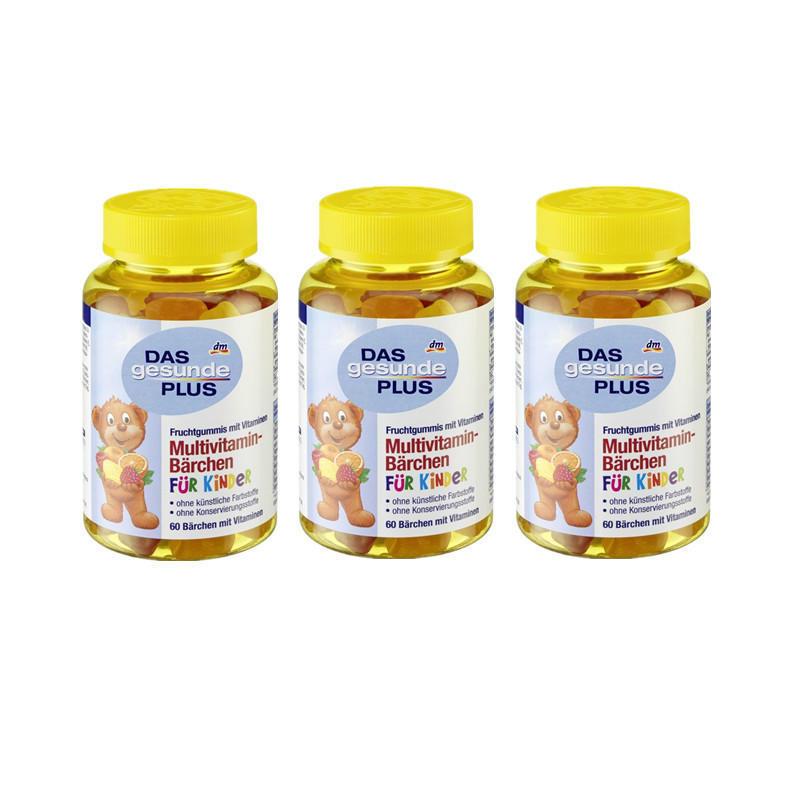 【德国BA】DAS gesunde PLUS 儿童小熊造型多种维生素维他命复合软糖 4岁+ 3瓶装