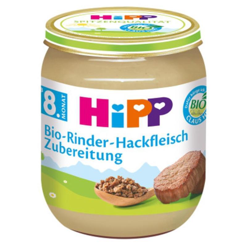 HiPP 喜宝 小颗粒有机牛肉末辅食 125g 8个月以上宝宝适用 含有机菜籽油 富含Omega 3 有利宝宝大脑和