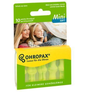 Ohropax mini soft迷你超软型防噪音隔音专业睡眠耳塞10个装5对 特价:€2.55约20元;