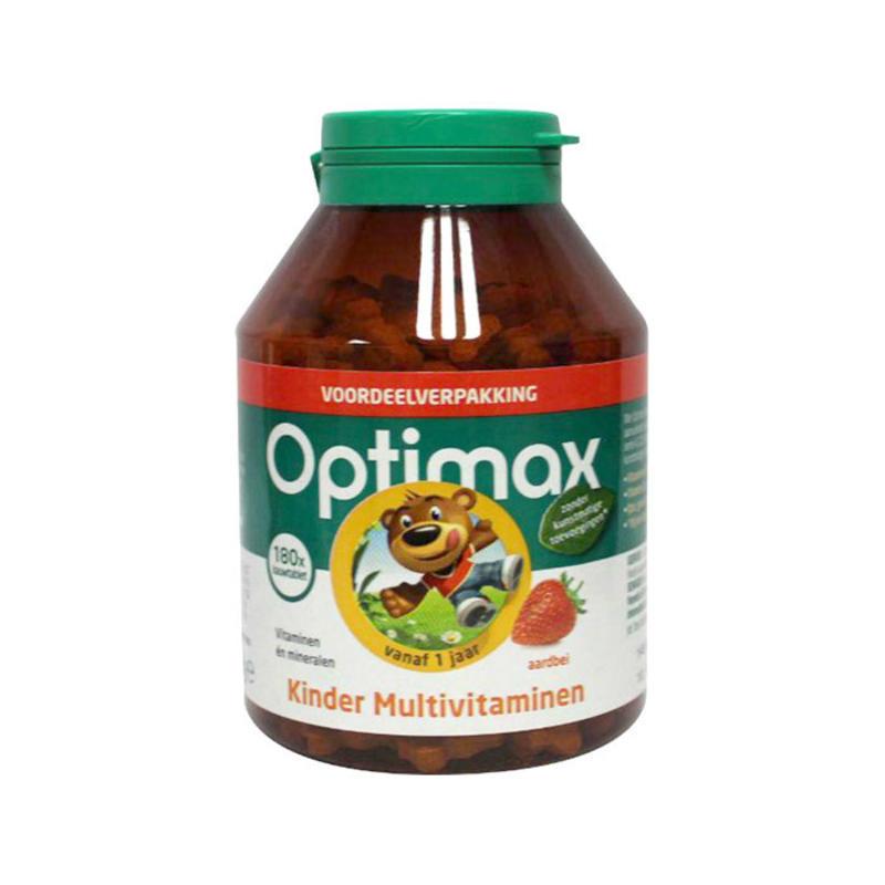 【包邮装】Optimax 宝宝多种维生素加矿物质咀嚼片 100片 (草莓味)