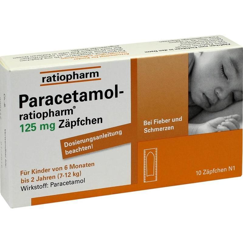 Ratiopharm PP栓剂 10片 6个月-2岁(7kg-12kg)