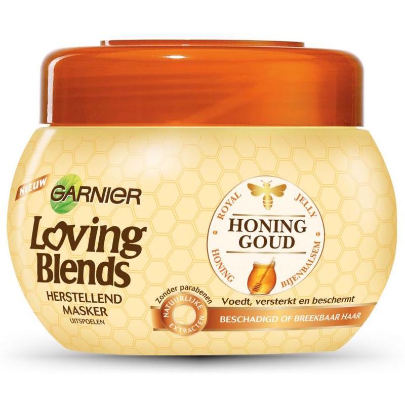【荷兰DOD】Garnier 卡尼尔 蜂蜜水洗护发发膜 (受损脆弱头发修复)300ml