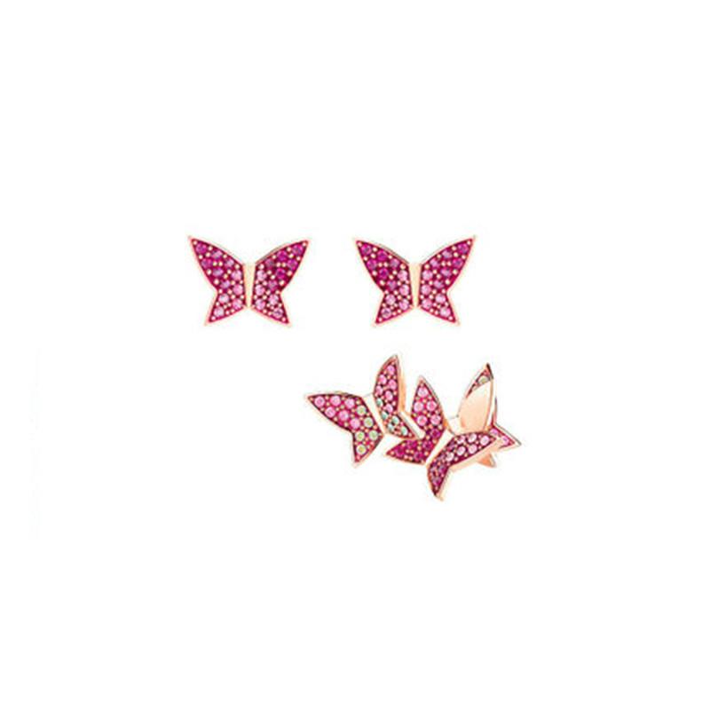 【德国BA】Swarovski 施华洛世奇LILIA前卫不对称蝴蝶造型耳环