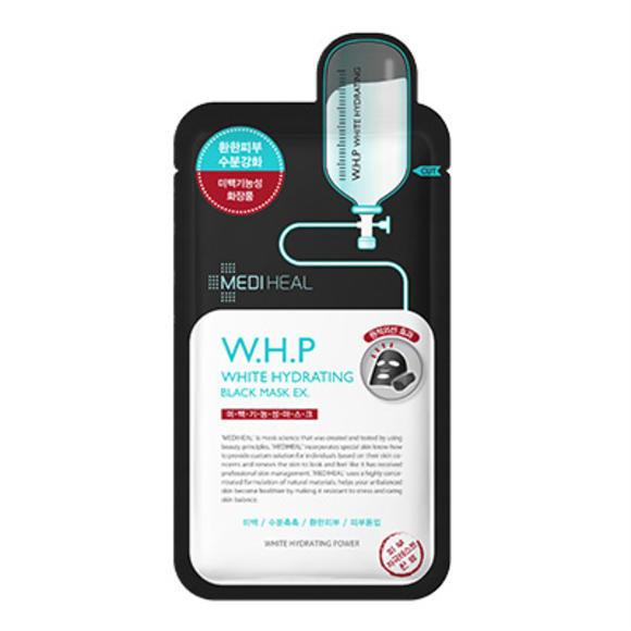 【美迪惠尔】W.H.P美白保湿黑炭面膜10片装+维生素美白面膜10片装