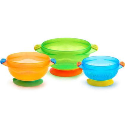 【澳洲PO药房】Munchkin 麦肯齐 满趣健 婴儿防摔吸盘碗3个辅食套装