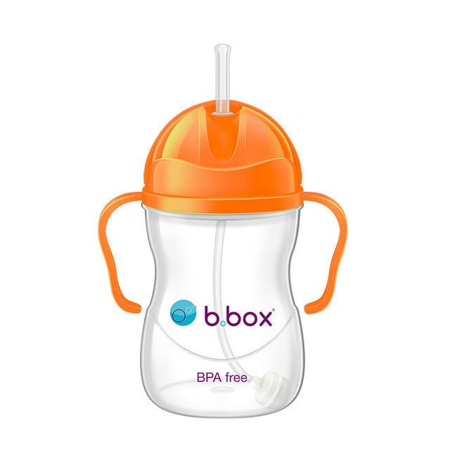 【澳洲Amcal】B.box 婴幼儿重力球吸管杯 防漏 240ml 荧光橙色 (6个月以上)