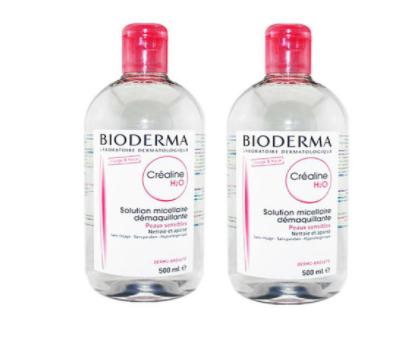 【2瓶包邮装】Bioderma贝德玛 舒妍温和保湿卸妆水(粉水) 2x500ml
