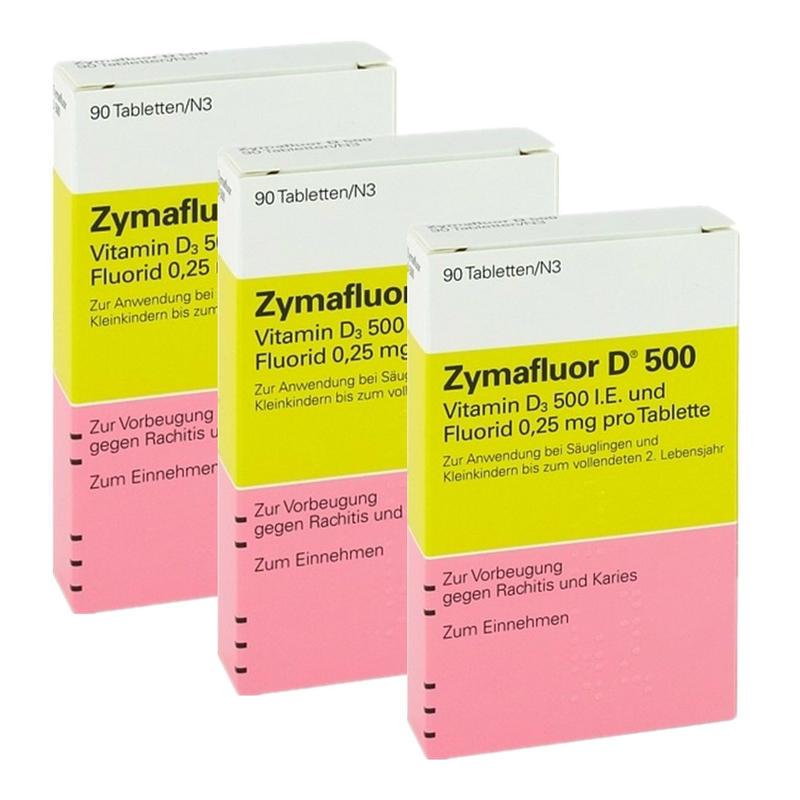 【德国BA】Zymafluor D 500 婴幼儿维生素D 90粒 3盒装
