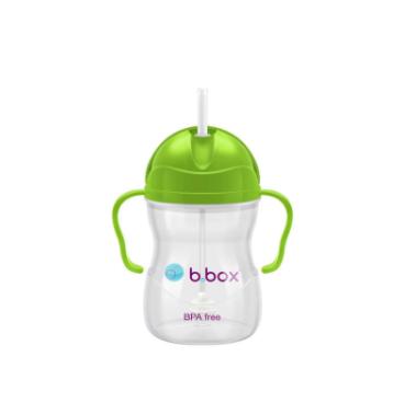 【澳洲Amcal】B.box 婴幼儿重力球吸管杯 防漏 240ml 苹果青 (6个月以上)