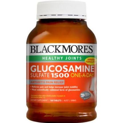 【澳洲PO药房】Blackmores 澳佳宝 维骨力关节灵 硫酸氨基葡萄糖 1500mg 180片