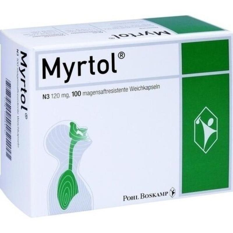 【德国BA】【新品】MYRTOL 吉诺通肠溶软胶囊 (6岁以上适用) 100粒/盒
