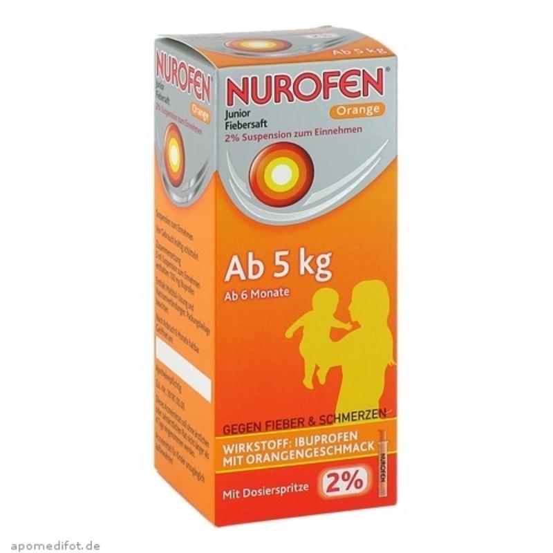 【德国BA】Nurofen 2%布洛芬 婴幼儿/儿童退烧口服液 橙味 6个月-9岁(5kg+)100ml