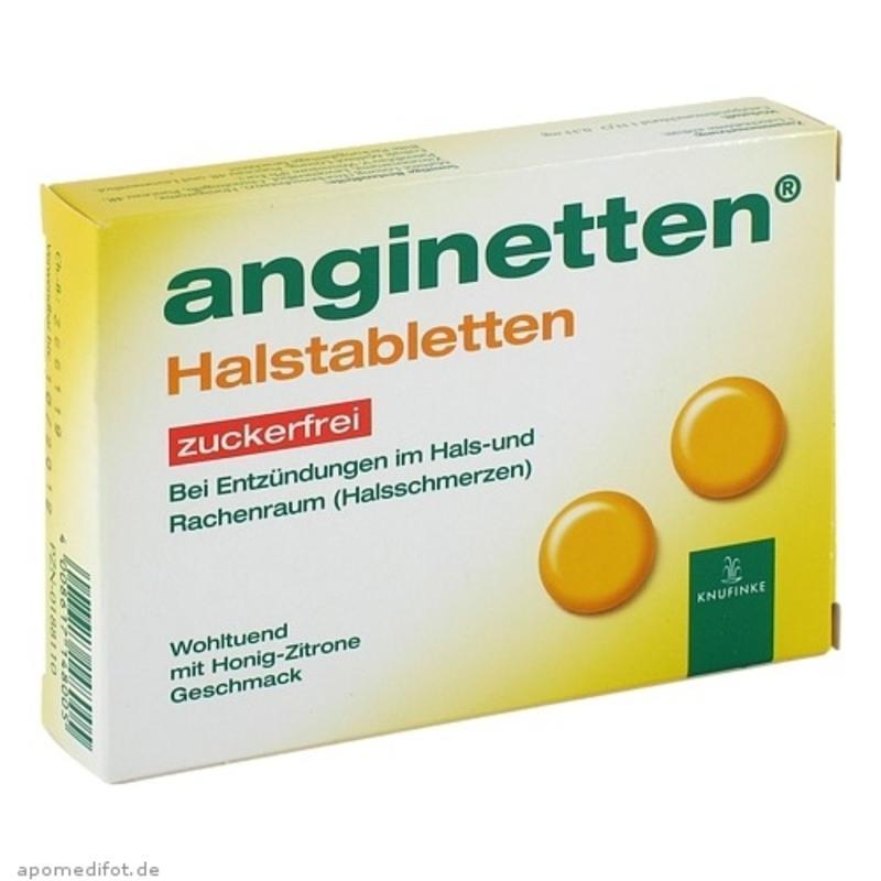 【德国BA】ANGINETTEN 急性口腔咽喉消炎片(蜂蜜柠檬味) 24粒