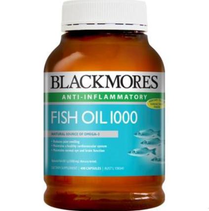 【澳洲PO药房】Blackmores 澳佳宝 深海鱼油软胶囊 1000mg 400粒