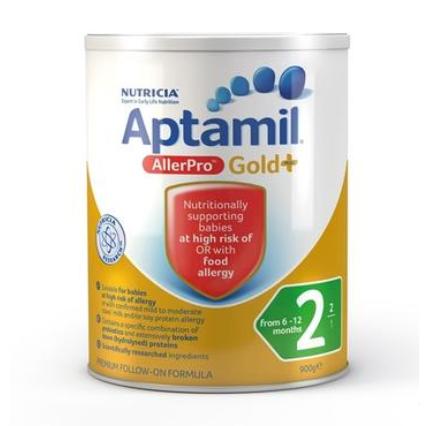 【澳洲PO药房】Aptamil 澳洲爱他美 金装婴幼儿配方奶粉 牛奶过敏专用 AllerPro深度水解(2段) 6-12个