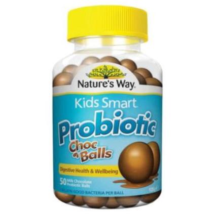 【澳洲PO药房】Nature&#039s Way 佳思敏 儿童益生菌巧克力球 50粒(调理肠胃助消化)
